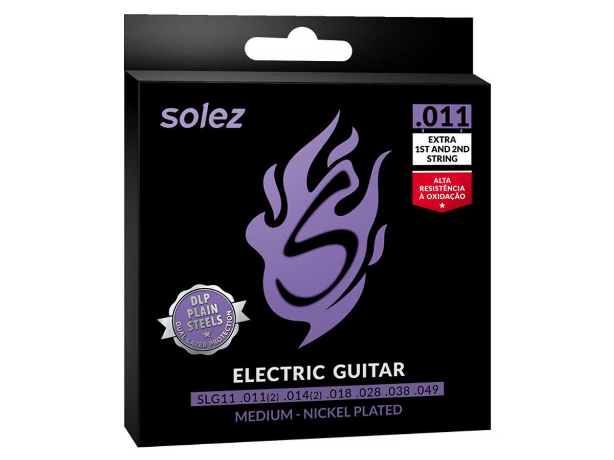 Encordoamento Solez para Guitarra 011 Níquel SLG11