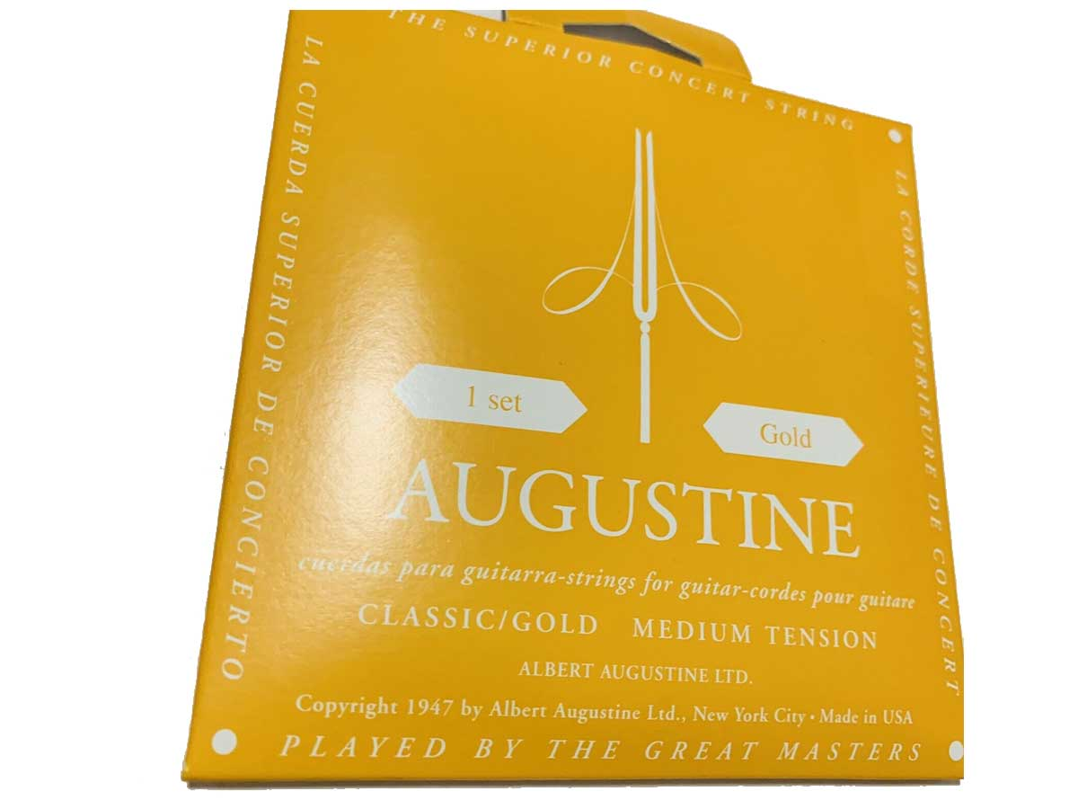 Encordoamento Violão Nylon Augustine Classic Gold Tensão Média