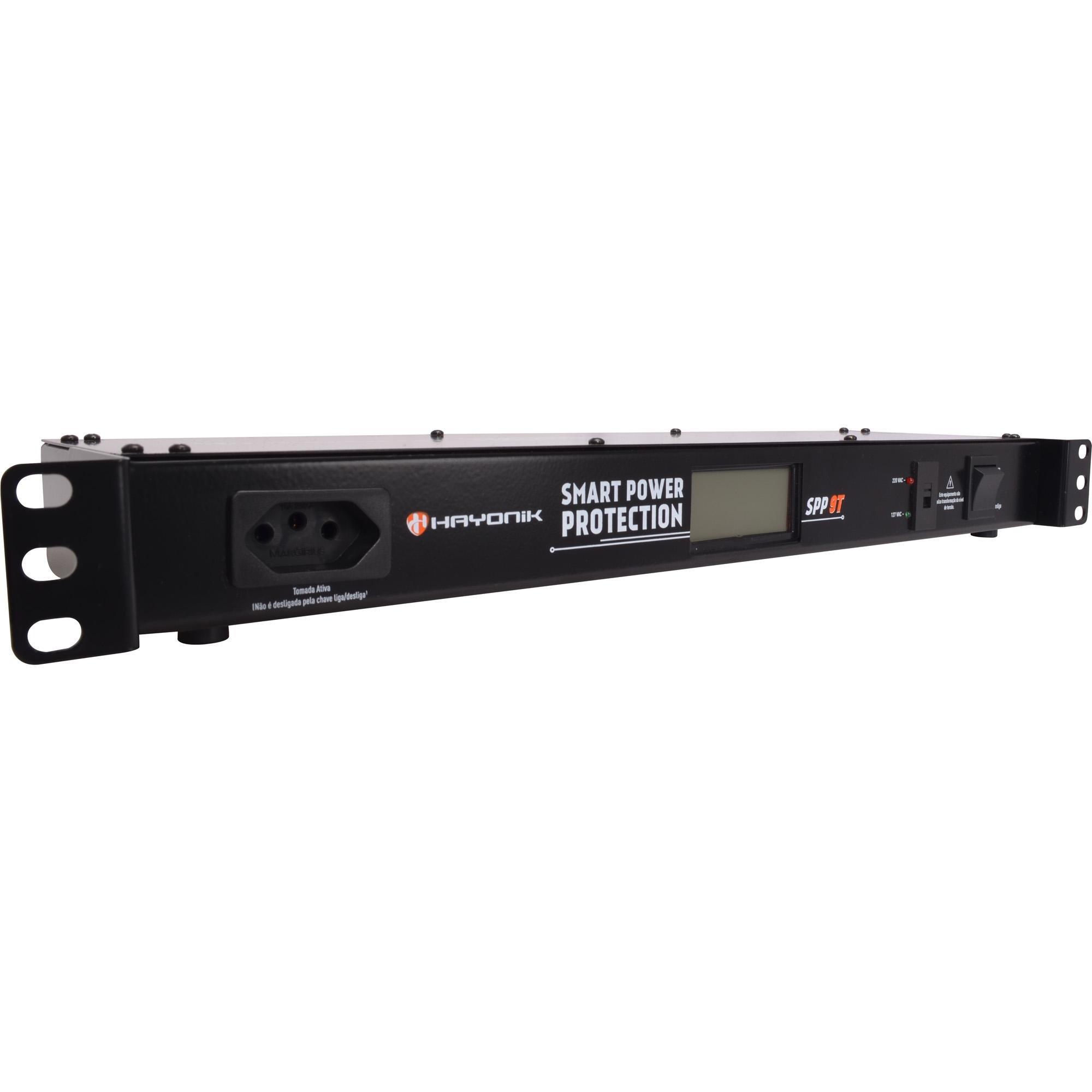 """Filtro de Linha para rack 19"""" HAYONIK  SPP9T SLIM Com protetor"""