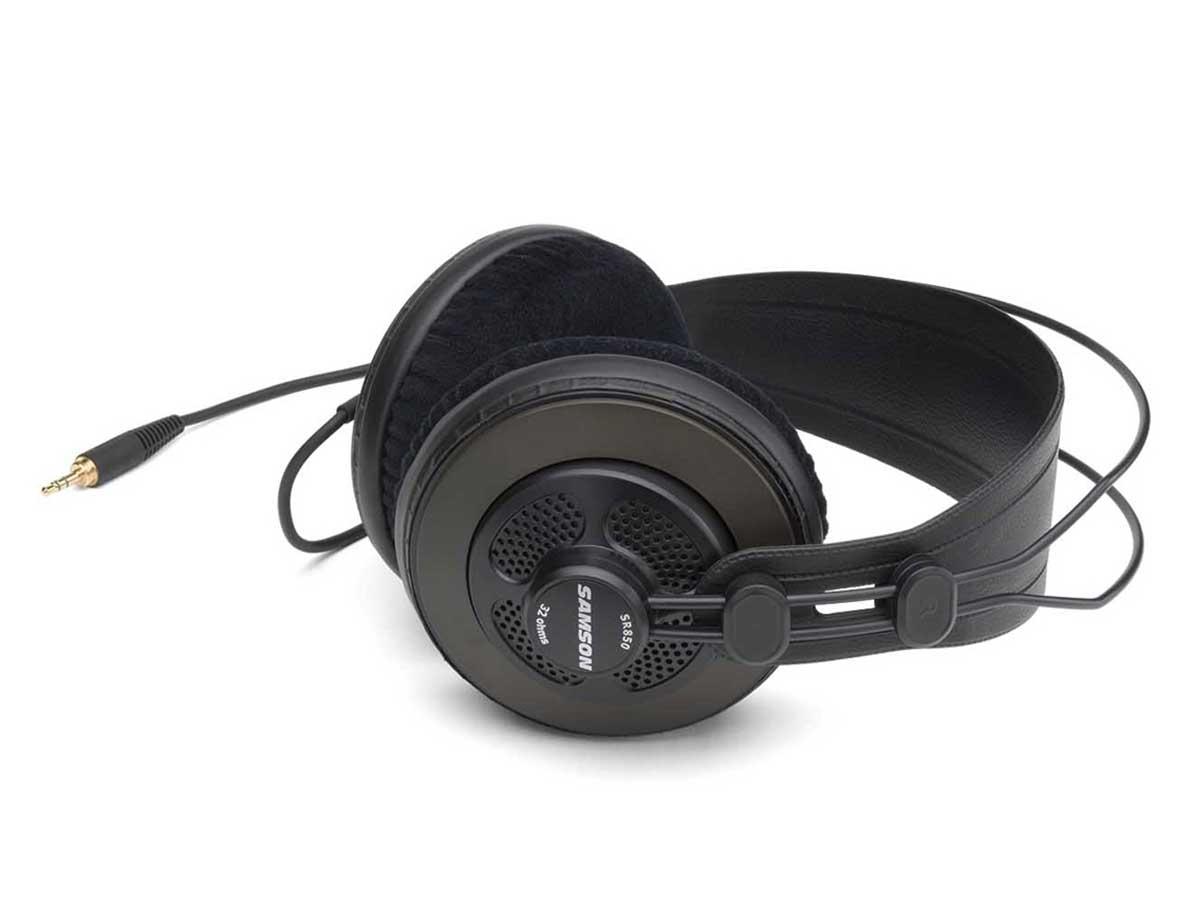 Fone de Ouvido Samson SR850 Studio Headphone Semiaberto Over-Ear