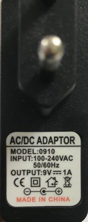 Fonte oem 9v DC - 1A - centro positivo bivolt automatica - Model 0910