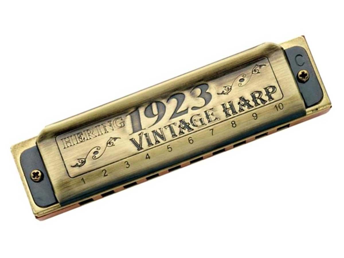 Gaita de Boca Diatônica Hering Vintage Harp 1020C em Dó