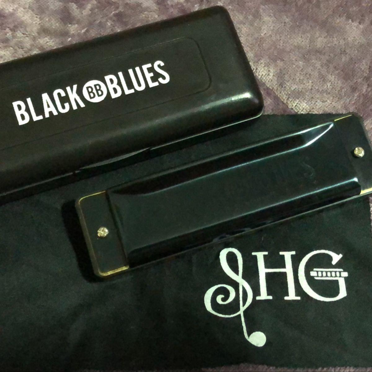 Gaita de Boca Hering Black Blues  Dó (C) 6020C