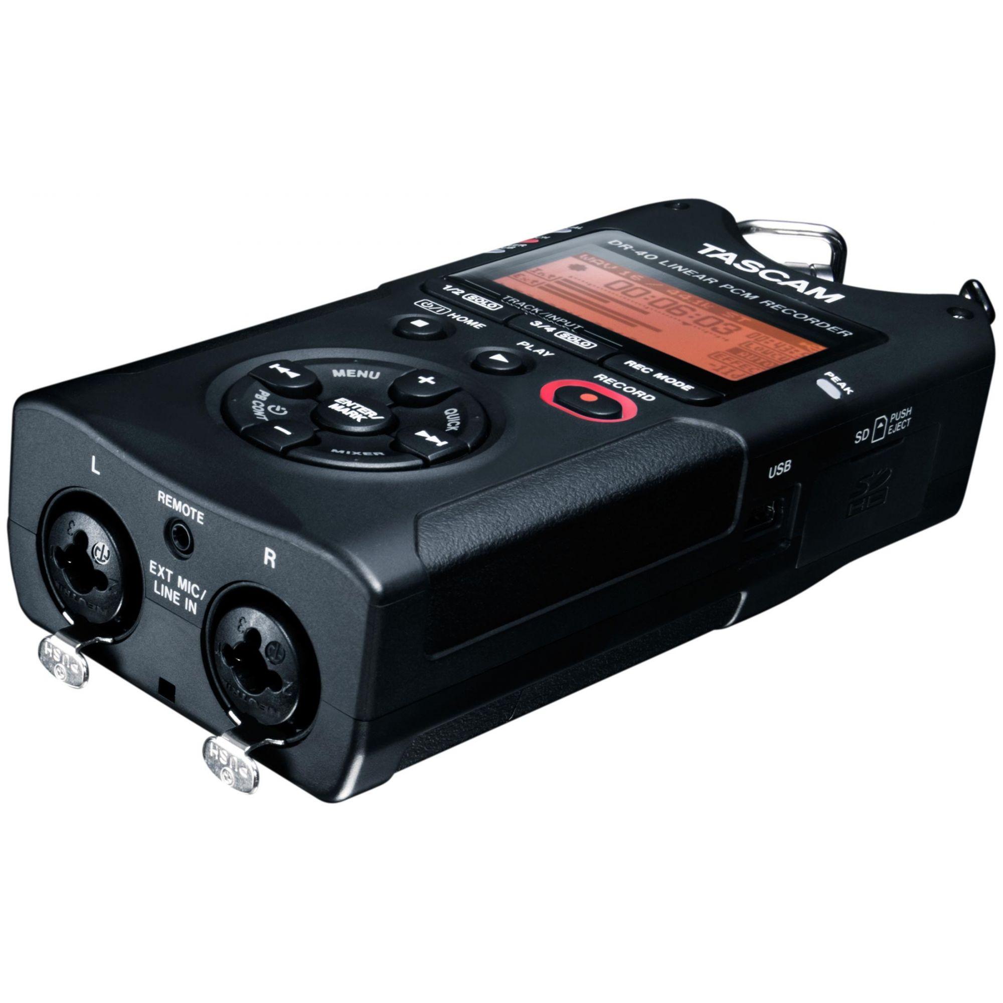 Gravador Tascam Dr-40 Versão 2 - 4 Gb