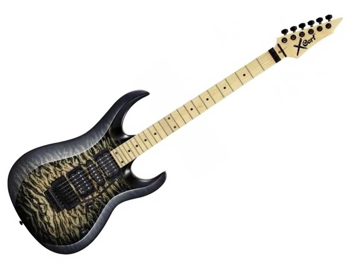 Guitarra Cort X 11 Qm Quilted Maple Com Floyd Rose