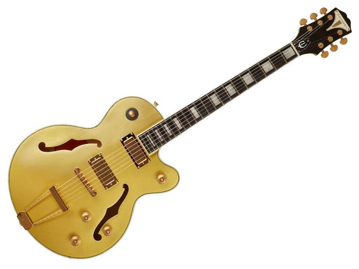 Guitarra Semi Acústica Epiphone Uptown Kat ES Topaz Gold Metallic 10030756 *