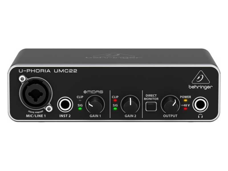Interface Behringer UMC22