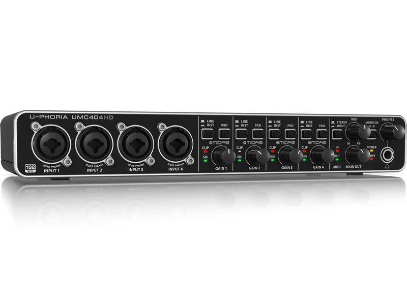 Interface de Áudio Behringer UMC404HD - 192kHz