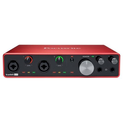 Interface de Áudio Focusrite Scarlett 8i6 - 3a Geração