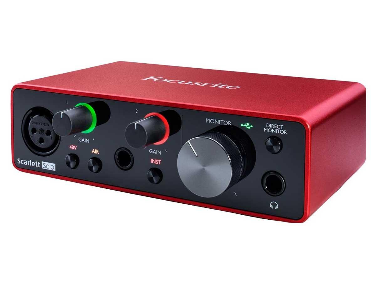 Interface de Áudio Focusrite Scarlett Solo - 3a Geração