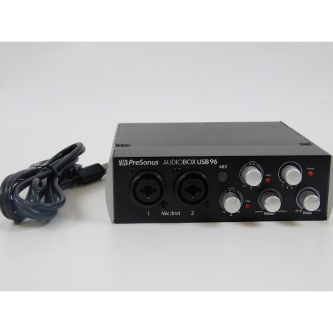 Interface de Áudio PreSonus AudioBox USB 96 2x2 - Preta - Edição ltda