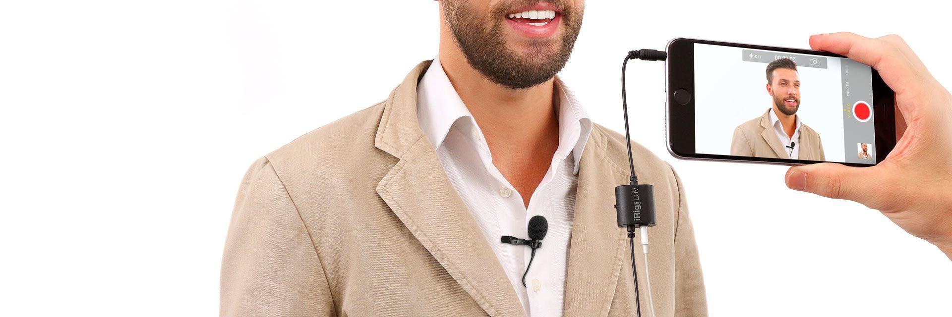 iRig Mic Lav - Microfone de Lapela para Smartphone