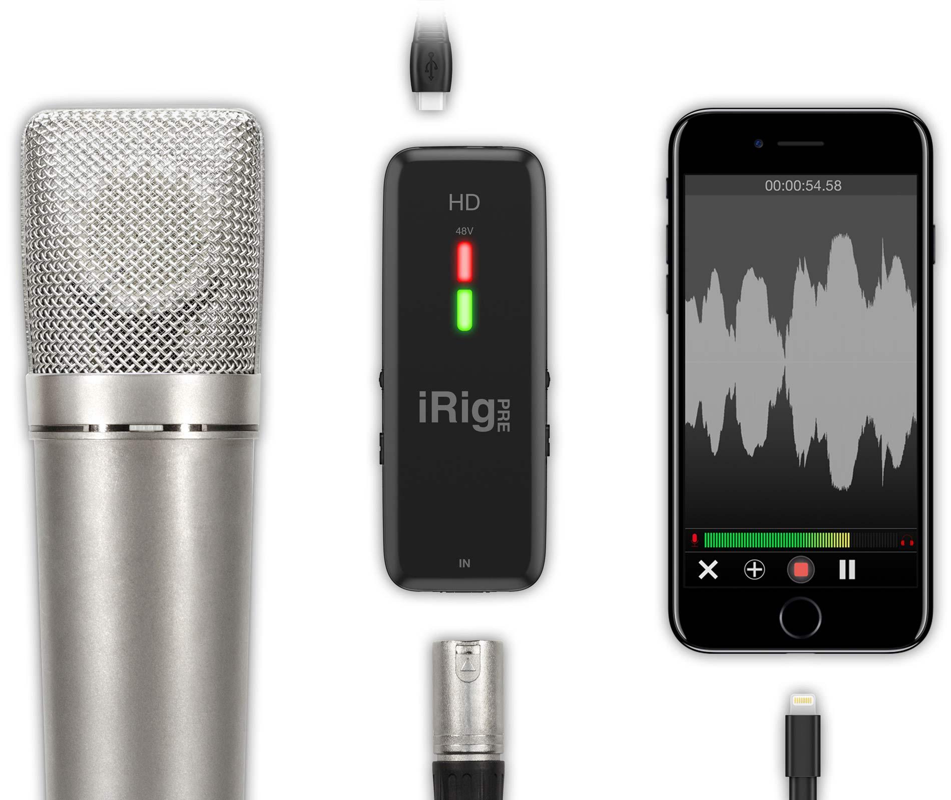 iRig Pre HD - Interface de Audio para Live Gravações