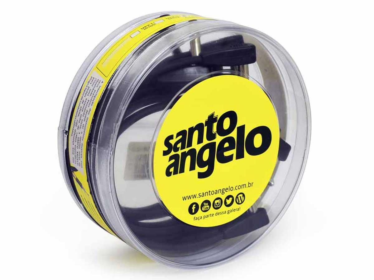 Kit com 10 Cabos p/ Pedal Santo Angelo Flatconn 25 cm