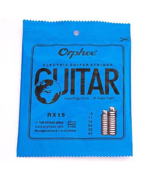 Kit com 10 Encordoamentos Orphee RX15 Guitarra 009
