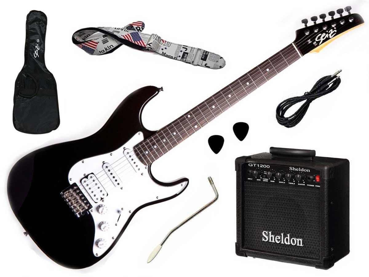 Kit Completo Guitarra Seizi Stone + Amplificador e Acessórios