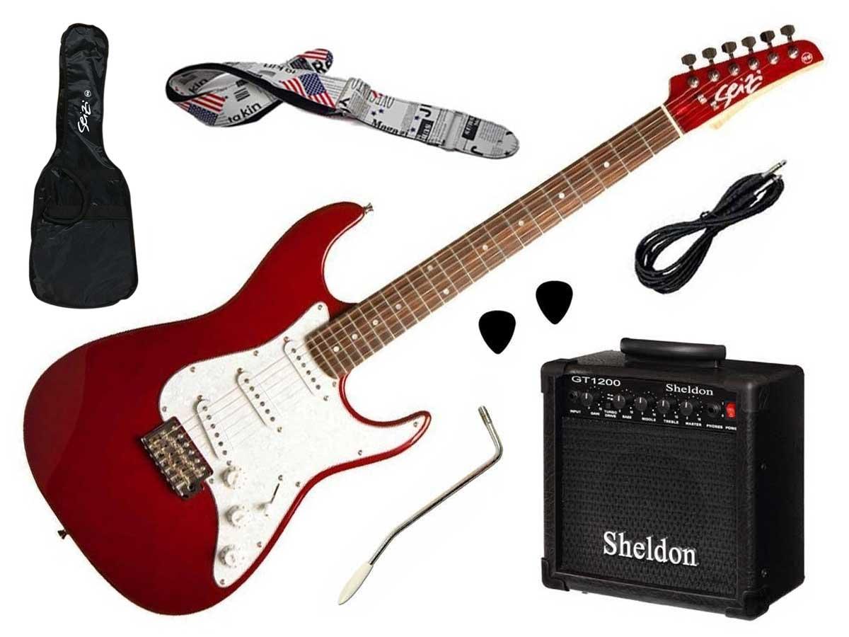 Kit Completo Guitarra Seizi Vision + Amplificador e Acessórios
