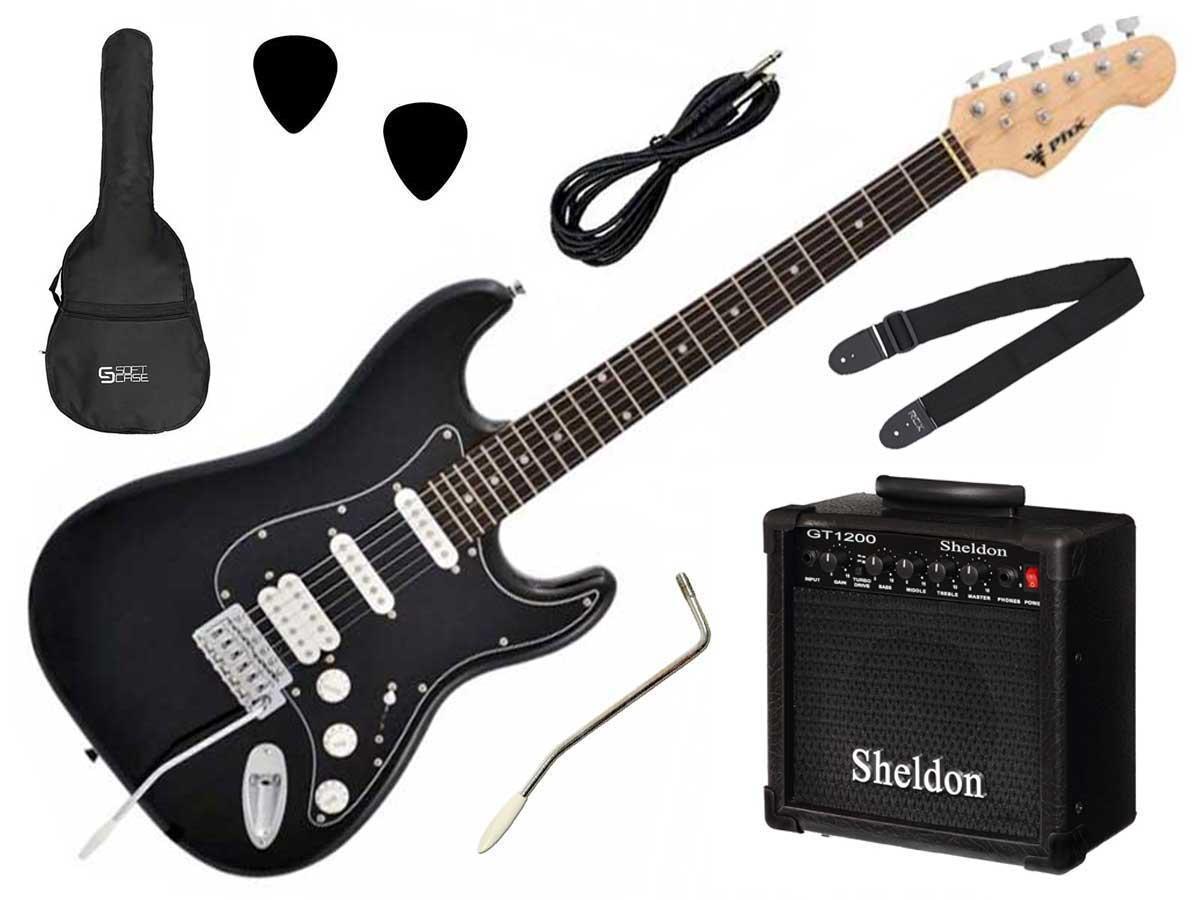 Kit Completo Guitarra Stratocaster PHX Strato Power + Amplificador e Acessórios