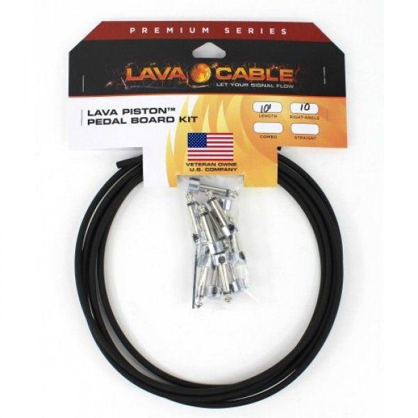 Kit de cabos para pedais Lava Cable Premium Piston solder-free - preto