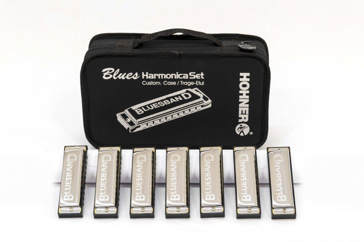 Kit de Gaitas Hohner Blues Band 7 Harmonicas Set - Com Estojo