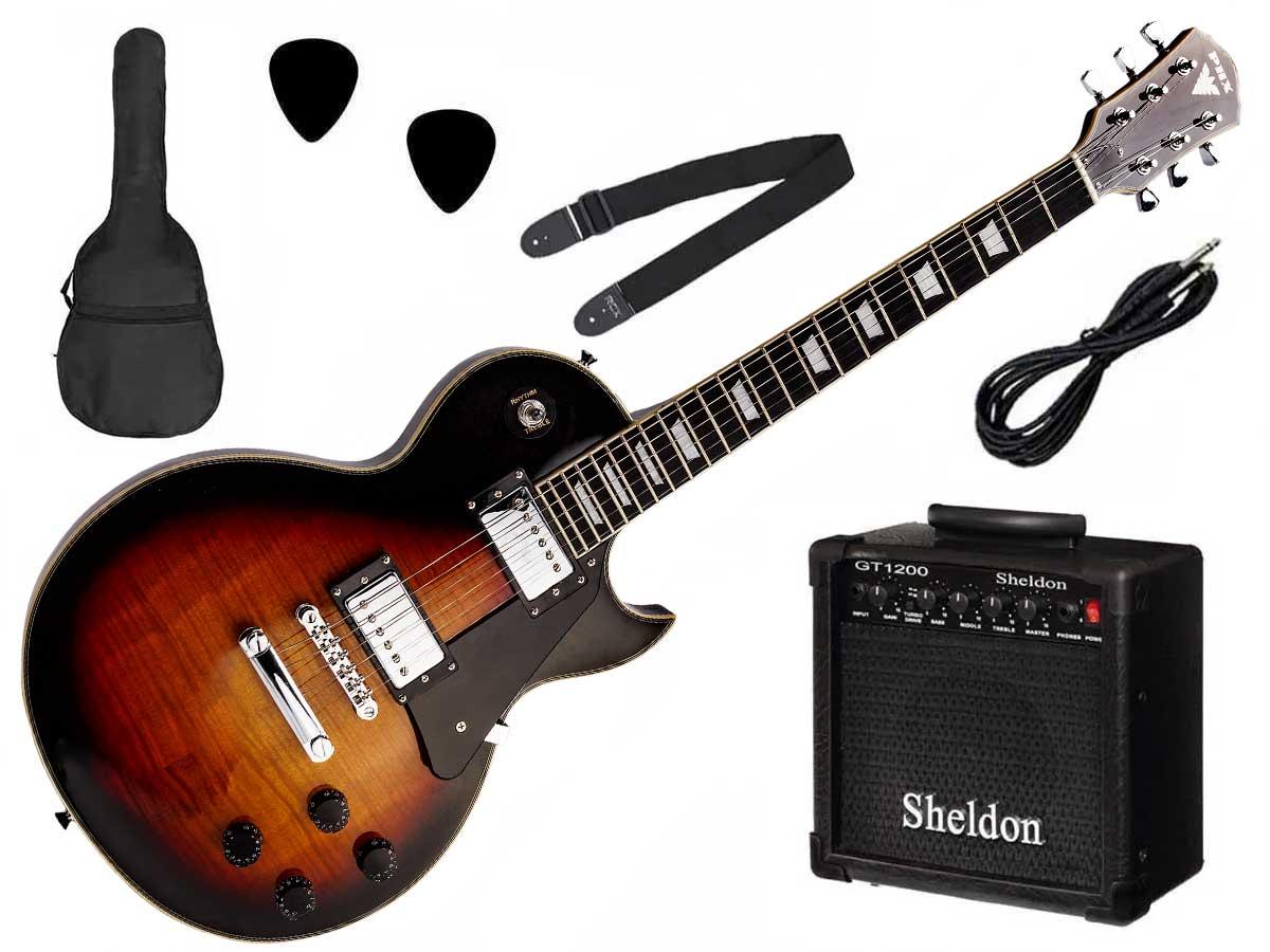 Kit Guitarra Les Paul PHX LP-5 Studio Flamed Maple + Amp Sheldon GT1200