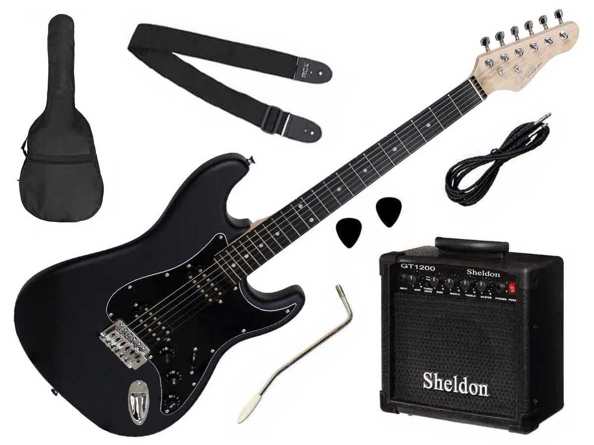 Kit Guitarra Stratocaster Giannini G 102 + Amplificador e Acessórios