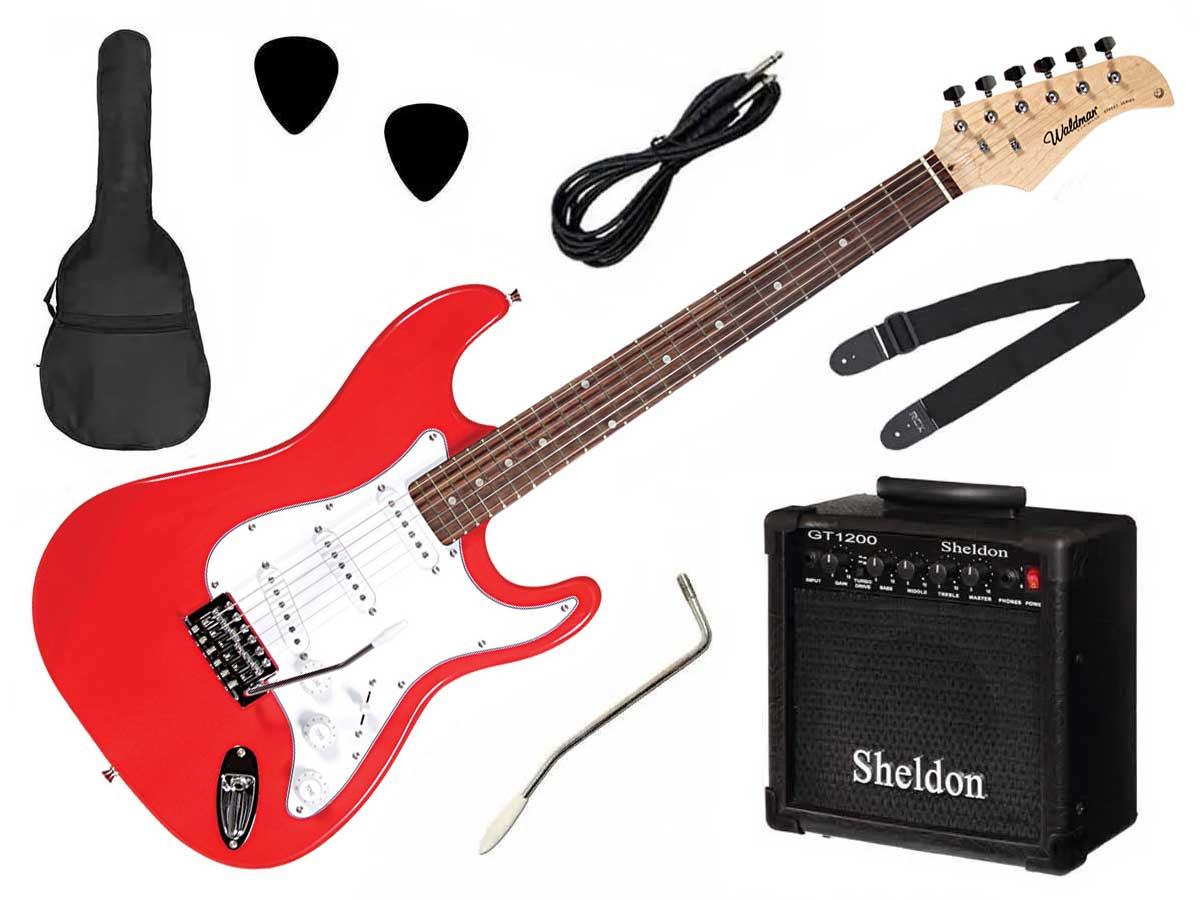 Kit Guitarra Waldman Street ST-111 + Amp e Acessórios