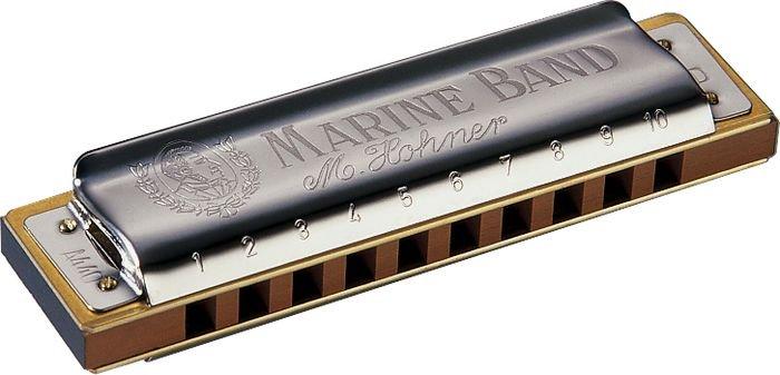 Kit Hohner Marine Band 1896 com 5 gaitas harmônicas (C, D, E, G, A)