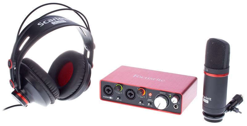 Kit Home Studio Focusrite Scarlett 2i2 Studio