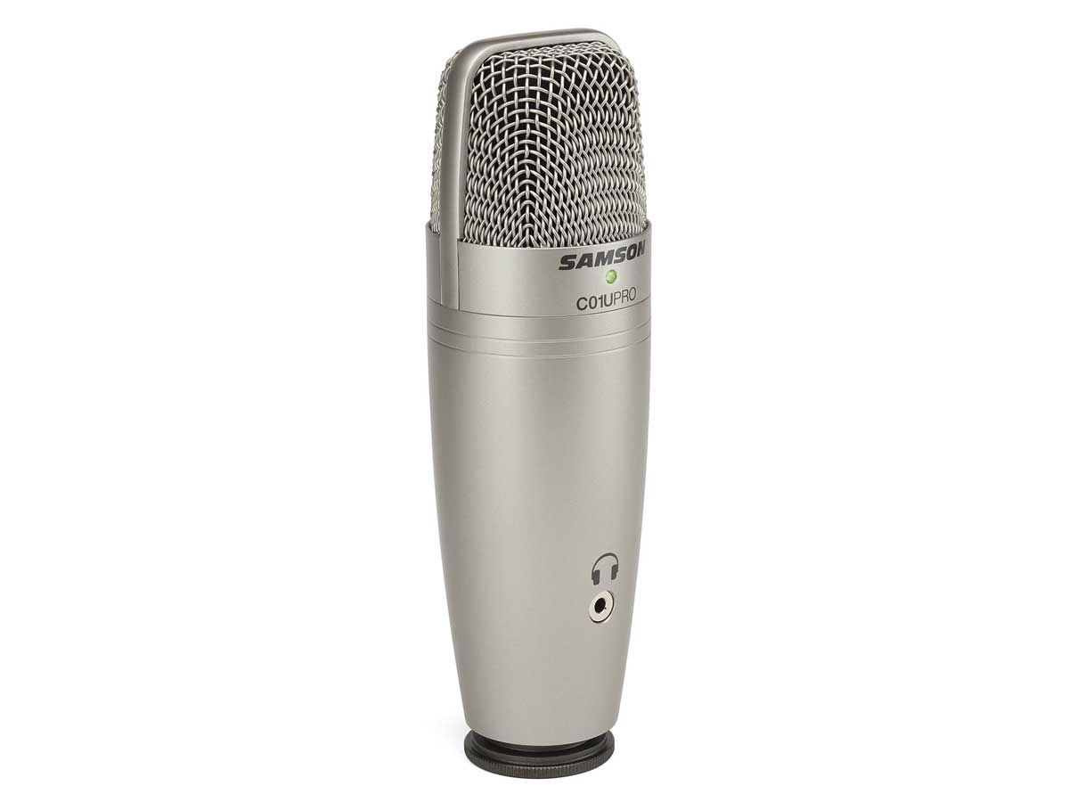 Kit Microfone USB Samson C01U Pro Recording Pack Com Fone