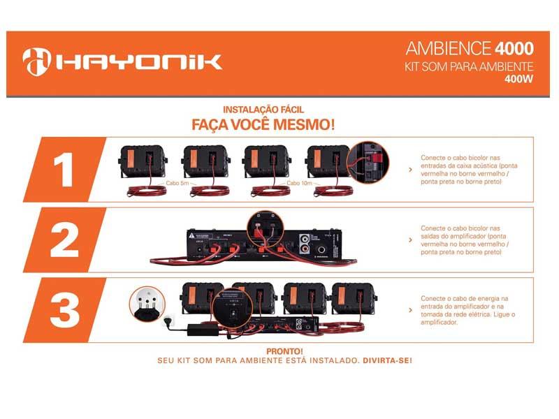 Kit Som Ambiente Hayonik Ambience 4000