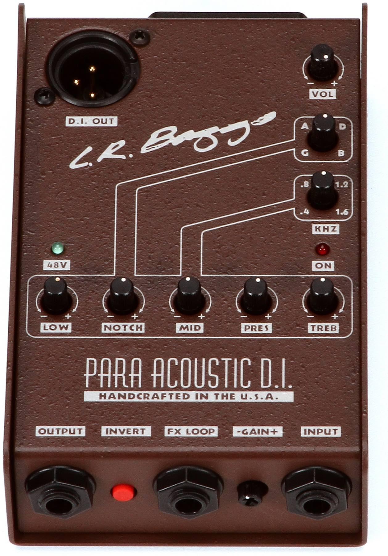 Lr Baggs Para Acoustic DI - Pré Amplificador, Direct box e 5 band EQ