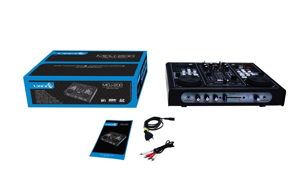 Lyco MDJ200 Mixer DJ com 2 entradas USB SD integradas