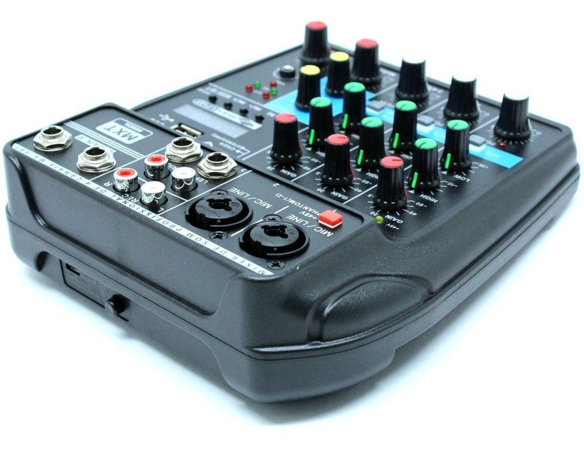 Mesa de som 4 canais MXT MX-4BT Interface USB