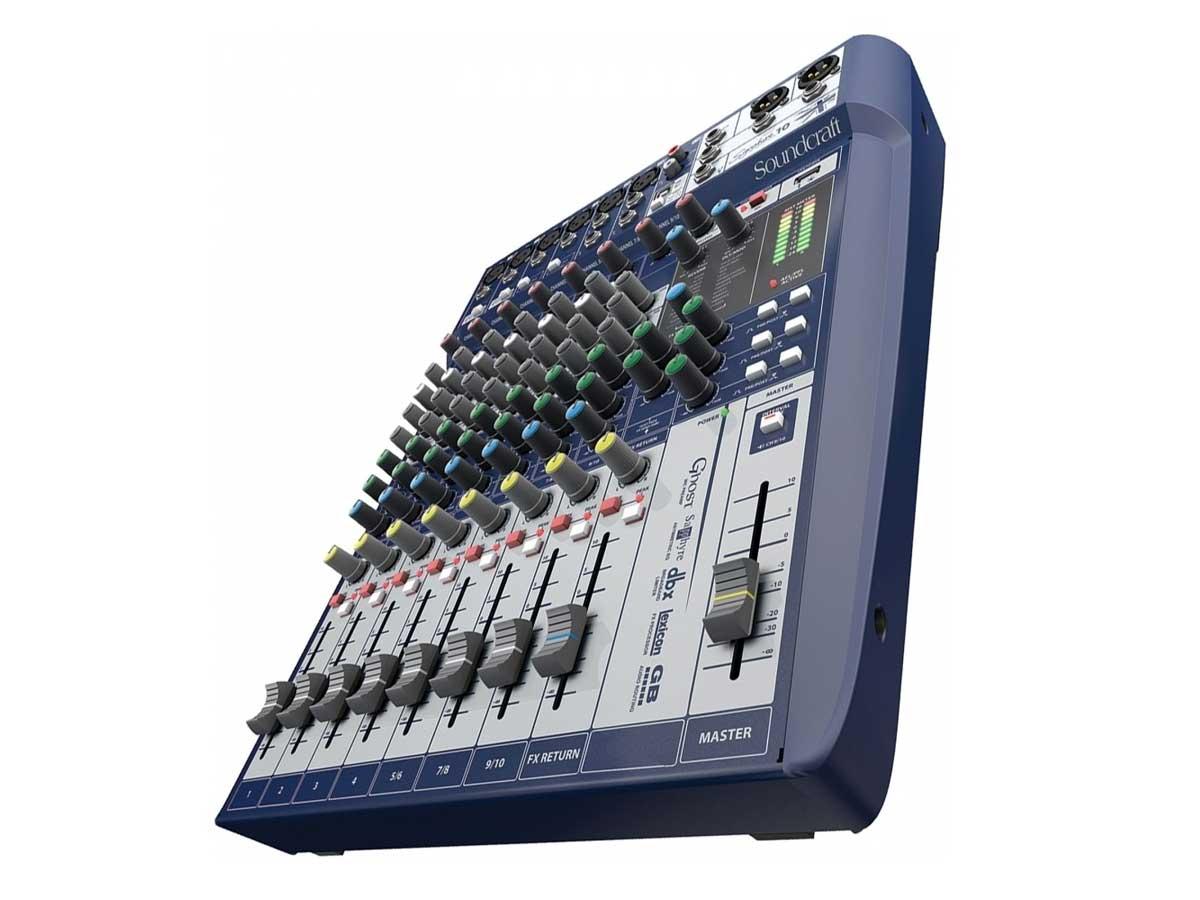 Mesa de Som Analógica 10 Canais Soundcraft Signature 10 com Efeito