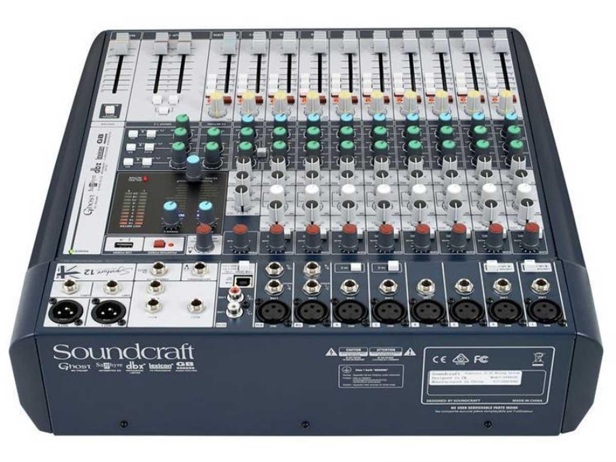 Mesa de Som Analógica 12 Canais Soundcraft Signature 12 com Efeito