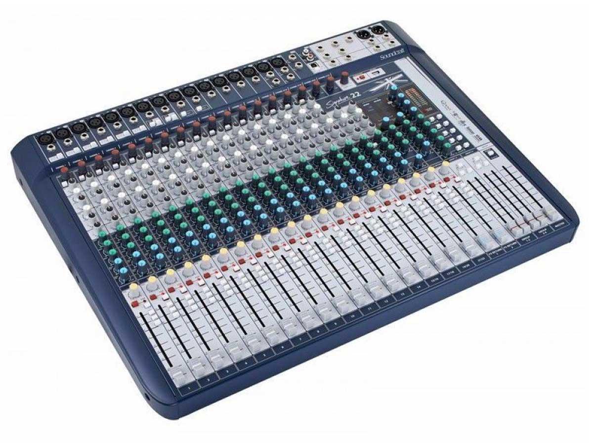 Mesa de Som Analógica 22 Canais Soundcraft Signature 22 com Efeito