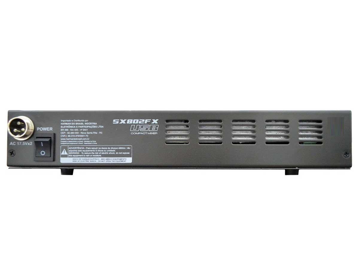 Mesa de Som Analógica 8 Canais Soundcraft SX802FX-USB com Efeito