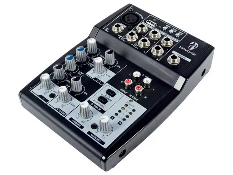 Mesa de Som Analógica USB 5 Canais Hayonik HMX-105