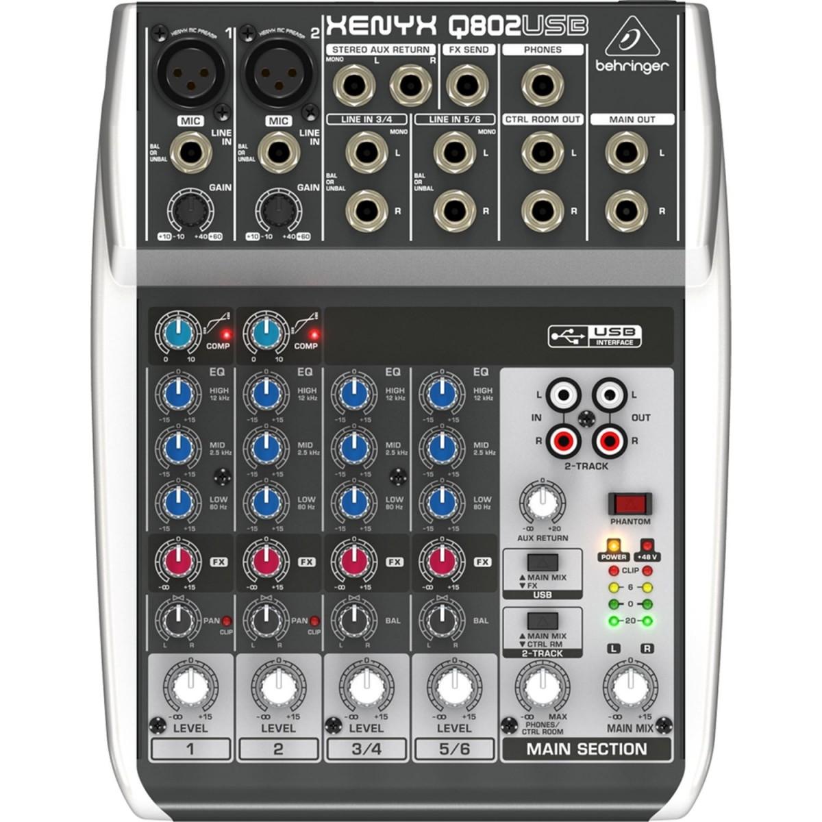 Mesa de som Analógica Xenyx 802 - Behringer