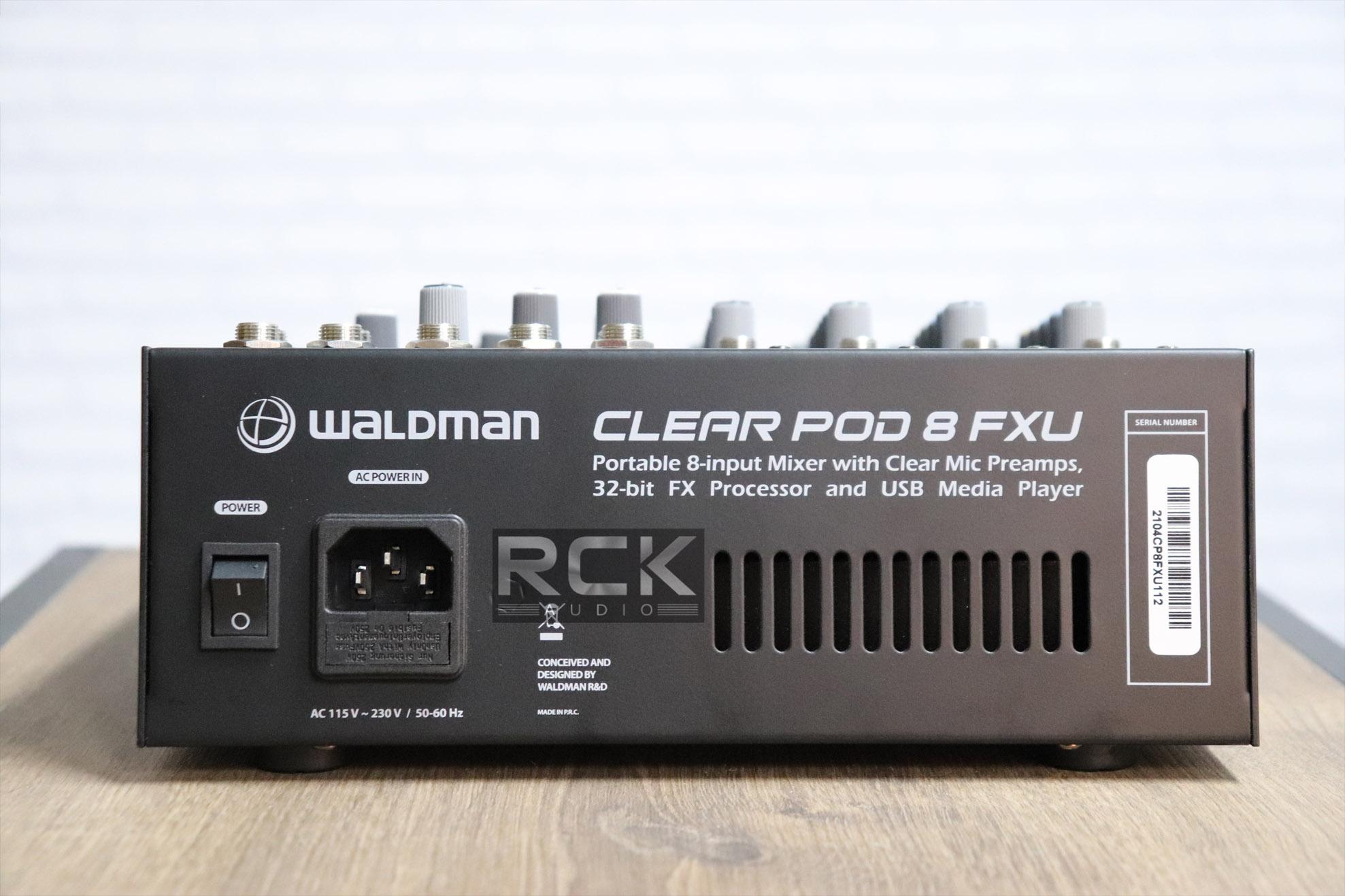 Mesa de Som Clear Pod Waldman de 8 Canais CP-8FXU