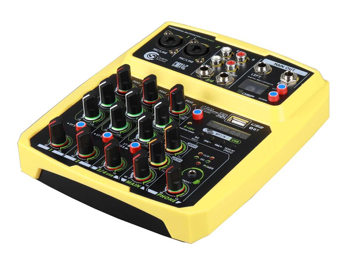Mesa de Som Custom Sound CMX 4C USB BT - com Interface de Áudio