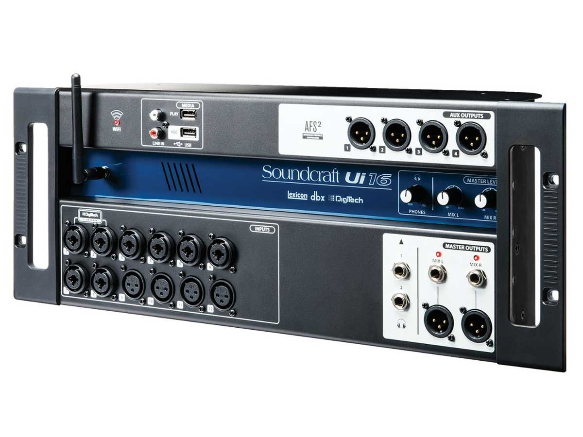 Mesa de Som Digital 16 Canais Soundcraft UI-16 - Wireless