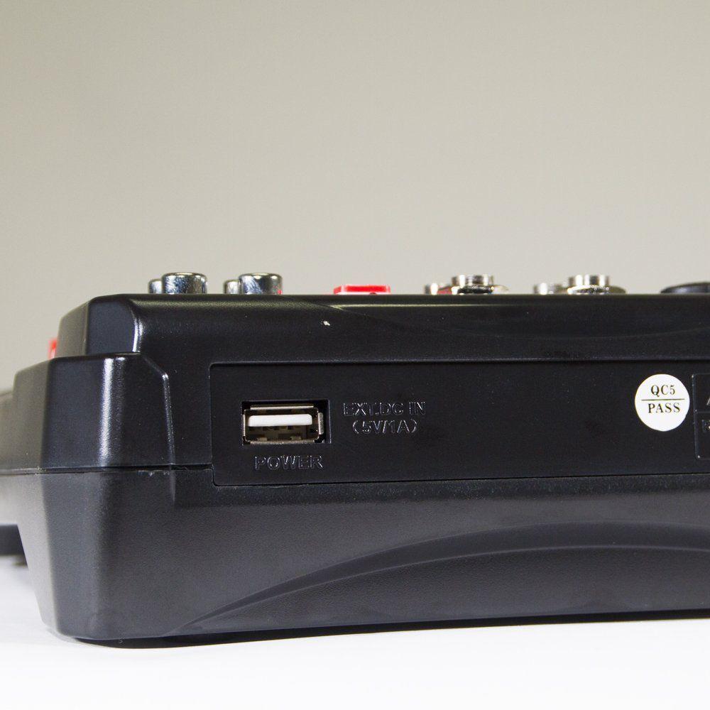Mesa de Som Interface de Audio USB Lexsen M6