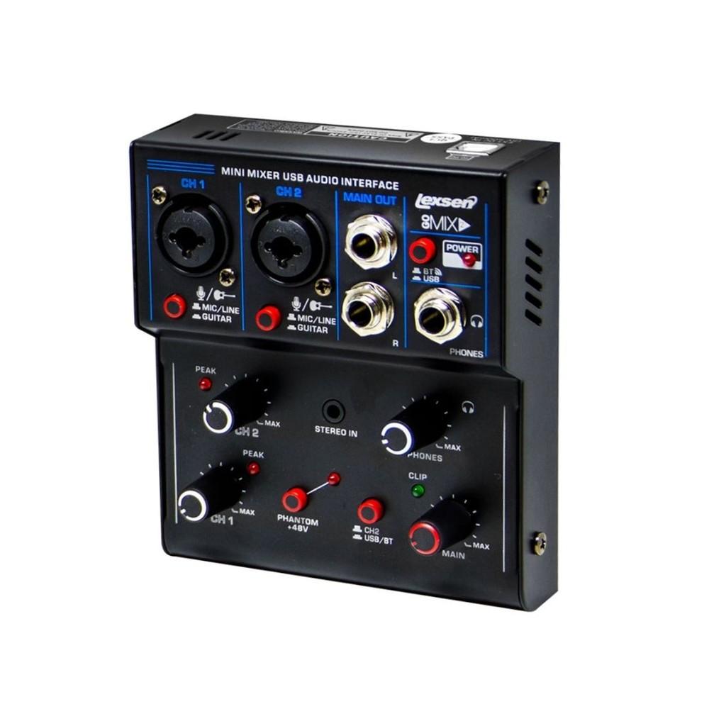 Mesa de Som  interface USB Lexsen - Go mix 2