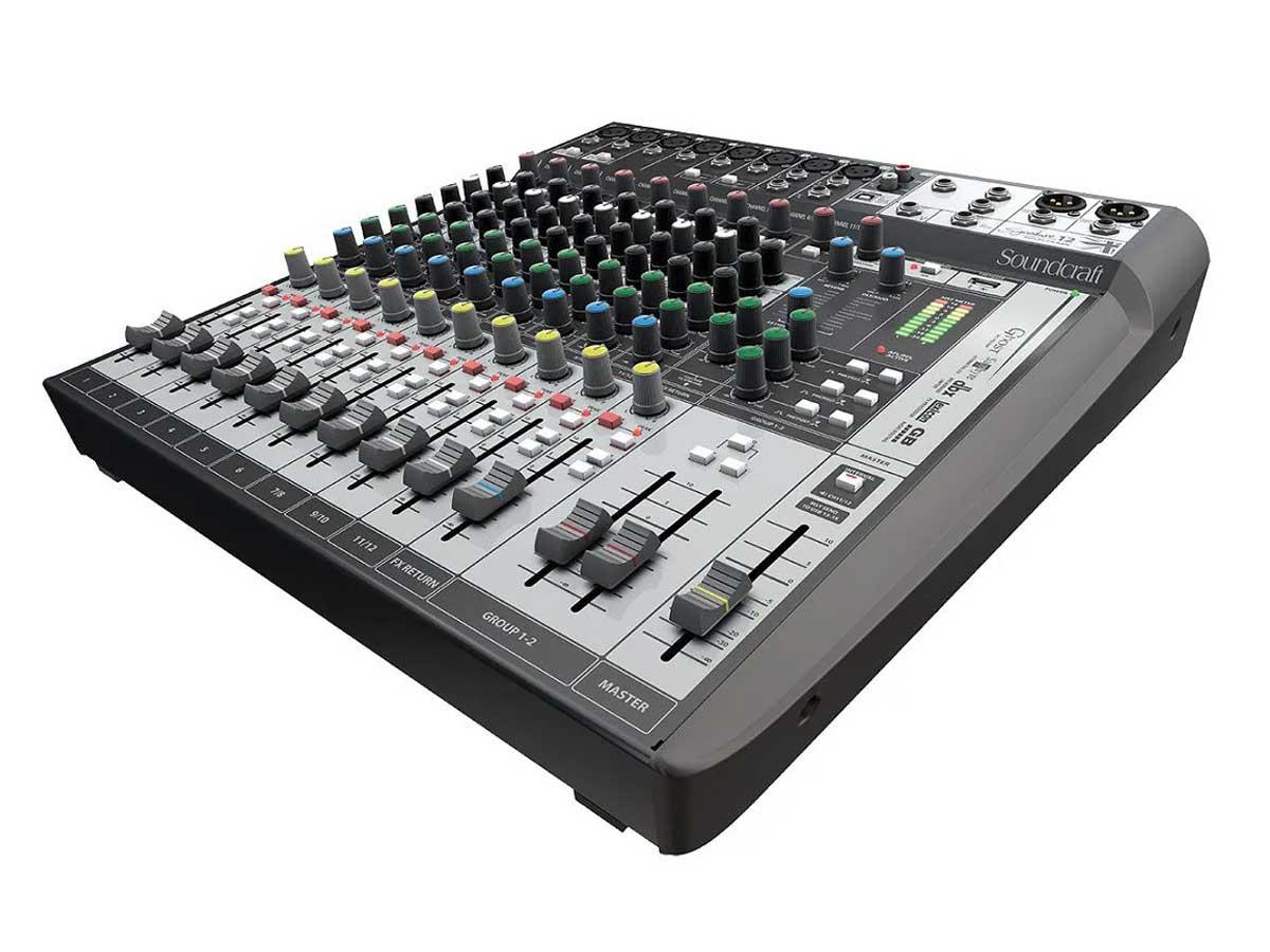 Mesa de Som Soundcraft Signature 12 MTK - Interface USB