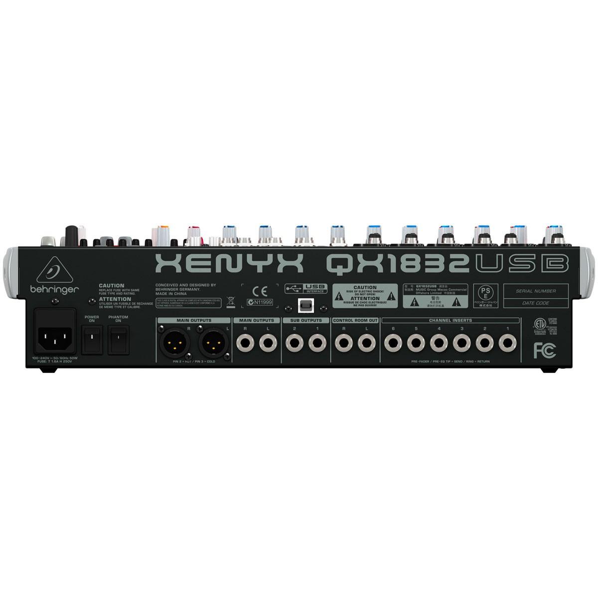 Mesa de som Xenyx QX1832 USB - Behringer