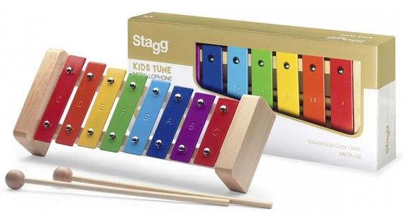 Metalofone Stagg Infantil K8 RB8