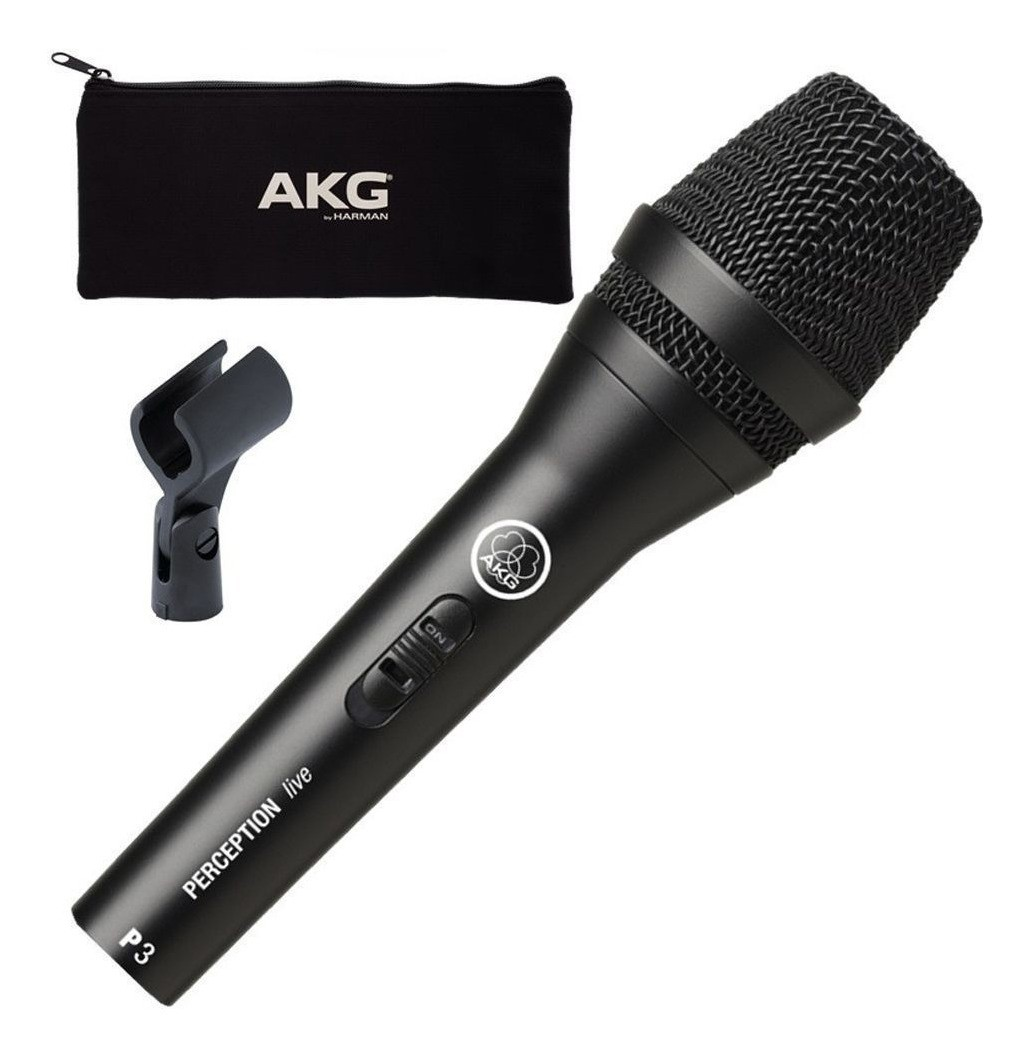 Microfone AKG P3S Perception com chave On off