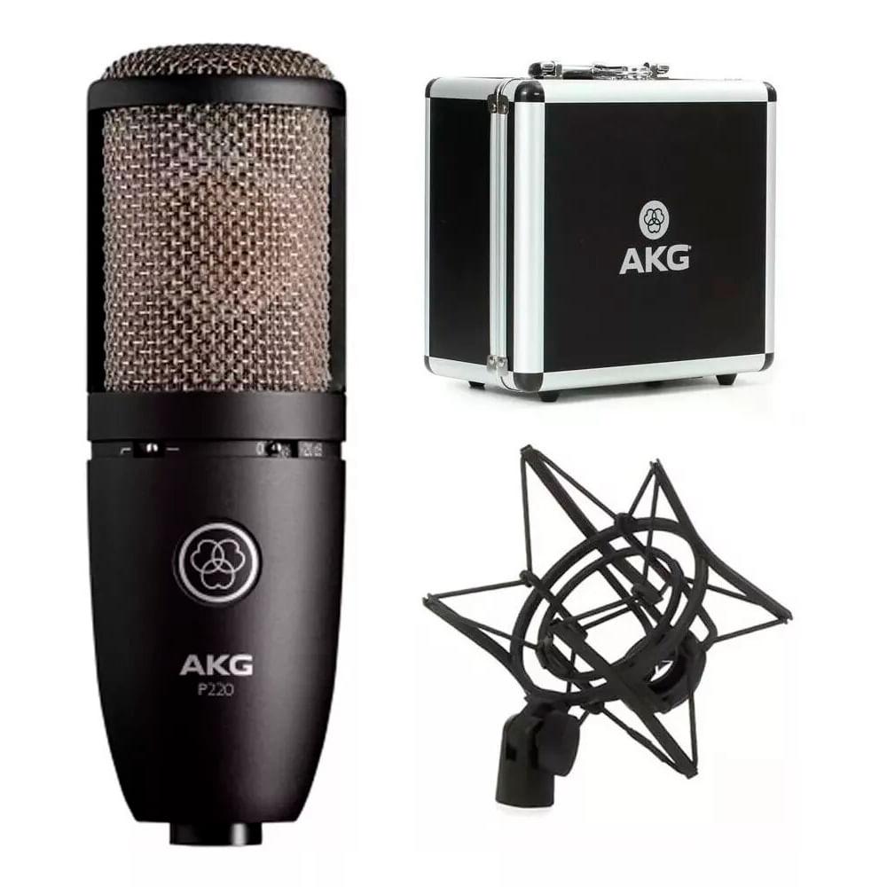 Microfone Condensador AKG P220 Estúdio Perception Profissional